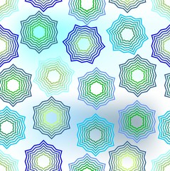 Seamless star background in green and blue design