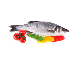 Fresh fish with the vegetables