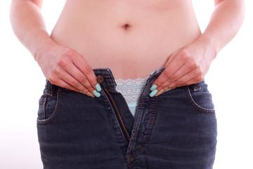 zu dick, Hose passt nicht mehr - isoliert