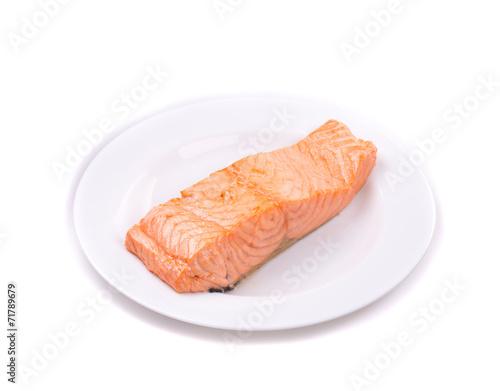 Leinwandbild Motiv Roasted salmon