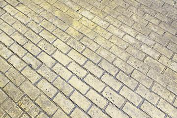 Yellow floor tiles