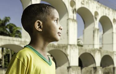 Brazilian boy in Rio de Janeiro, Brazil