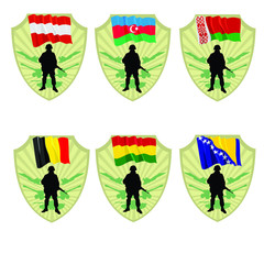 Army of Bosnia and Herzegovina,Bolivia,Belgium,Belarus,Azerbaija