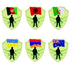 Army of Albania,Afghanistan,Australia,Armenia,Ukraine,Algeria