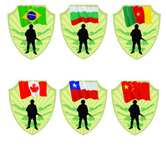 Army of China,Chile,Canada,Cameroon,Bulgaria,Brazil