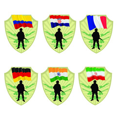 Army of France,India,Germany,Croatia,Colombia,Iran