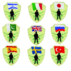 Army of United Kingdom,Turkey,Sweden,Spain,Russia,Pakistan,Japan