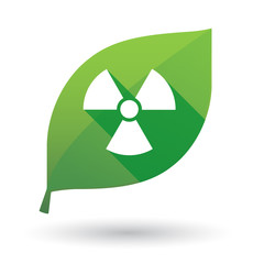 Green leaf icon with a radioactivity sign