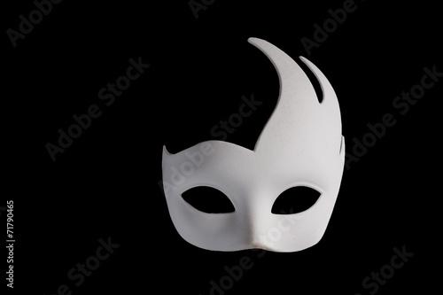 White Mask on Black Background - 71790465