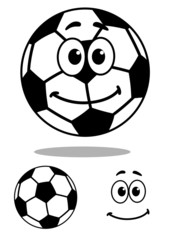 Smiling and white cartoon football character
