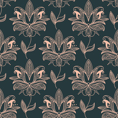 Repeat seamless floral background pattern