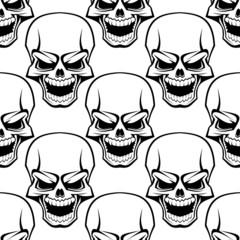 Skull seamless background pattern