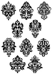 Foliate arabesque design elements