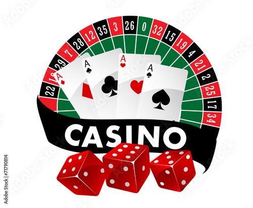 Casino emblem or badge - 71790814
