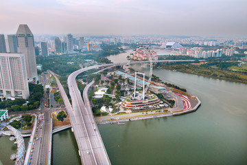 Aerial view of Singapore