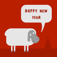 New Year and sheep