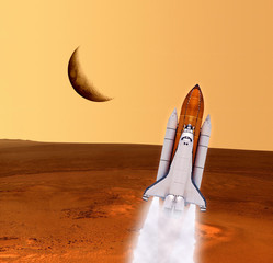 Shuttle Rocket Spaceship Mars
