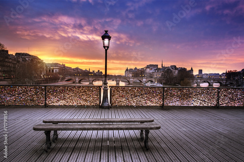 Poster Stad aan het water Pont des arts Paris France