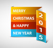 Original Vector New Year 2015 card