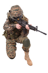 US MARINES with m4 carbine