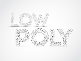 Vector low poly lettering