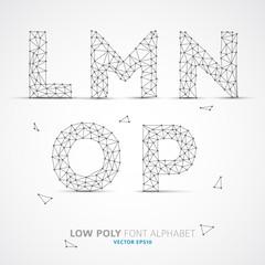 Vector low poly alphabet font
