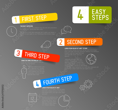One two three four - 4 easy steps template|71792052