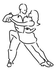 simple loop vector dancing couple