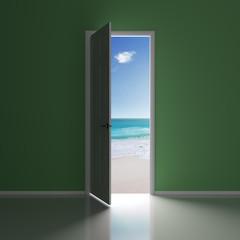 A door to the beach