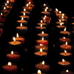 Lumières produites par des bougies