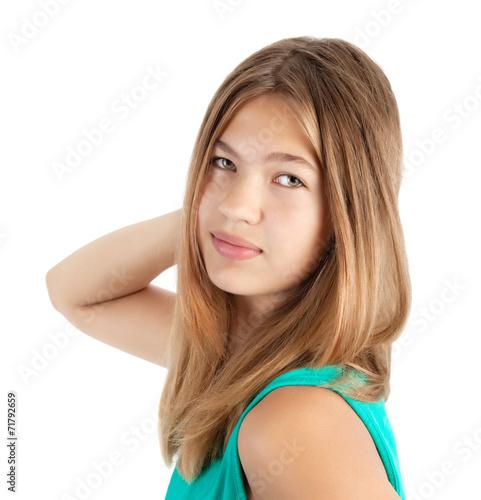 canvas print picture beautiful girl portrait