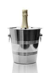 Gold Champagne bottle in cooler