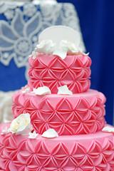 Delicious pink wedding cake