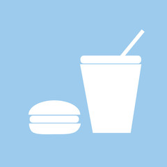hamburger and soda icon