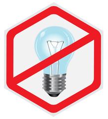 No, light, lamp, sign, hexagon