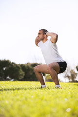 Man exercising in outdoor