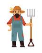 Farmer flat illustration