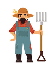 Farmer flat illustration