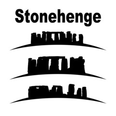 silhouette of stonehenge