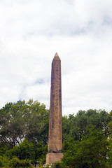 Famous Cleopatra's Needle Obelisk at Central Park