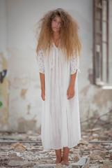spooky zombie woman