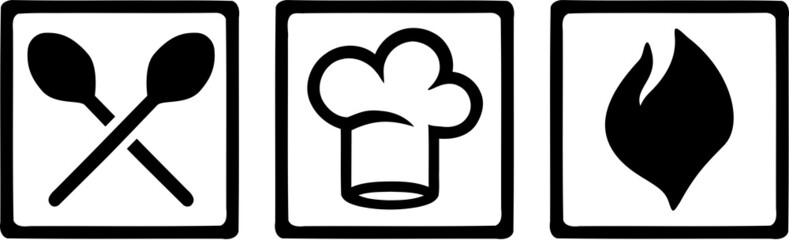 Cooking Icons Kitchen