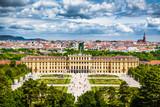 Znani Schloss Schoenbrunn w Wiedniu, Austria