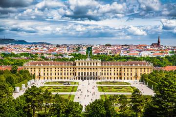 Famous Schloss Schoenbrunn in Vienna, Austria