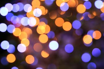 Colorful bokeh light