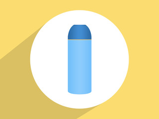 Thermo flask ,Flat design style