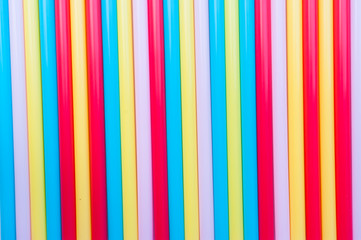 Background of colorful straws
