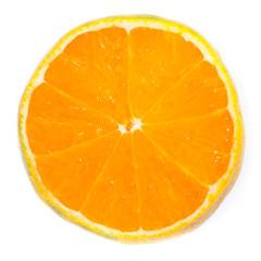 Sliced orange.