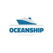OceanShip - vector logo. Sea ship illustration.