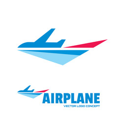 Airplane - vector logo concept. Aircraft illustration.